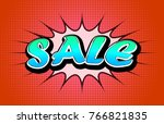 sale comics vintage icons over... | Shutterstock . vector #766821835