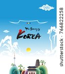 beautiful korea  korean... | Shutterstock .eps vector #766822258