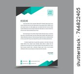 business style letterhead design   Shutterstock .eps vector #766822405