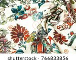 cotton fabric texture.... | Shutterstock . vector #766833856