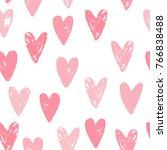 cute pink hearts seamless... | Shutterstock .eps vector #766838488