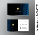 modern business card template...   Shutterstock .eps vector #766845772