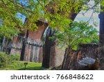 Small photo of Ruins of Longteng Bridge at Longteng Village of Sanyi Town, Miaoli, Taiwan. Trees beautify the scene.