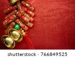 chinese lucky pouches with... | Shutterstock . vector #766849525