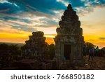 cambodia ancient castle | Shutterstock . vector #766850182