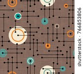 seamless 1950s retro pattern of ... | Shutterstock .eps vector #766853806