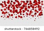 valentines day background.... | Shutterstock .eps vector #766858492