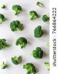 Food Pattern. Broccoli Isolated ...