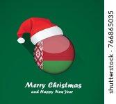 flag of belarus. merry... | Shutterstock .eps vector #766865035
