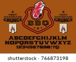 vintage classic western spurred ... | Shutterstock .eps vector #766873198