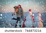 new year christmas snow concept ... | Shutterstock . vector #766873216