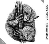black and white engrave...   Shutterstock .eps vector #766875322