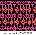 seamless repeating ornament in... | Shutterstock . vector #766895092