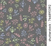 vector floral seamless pattern... | Shutterstock .eps vector #766895392