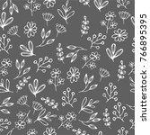 vector floral seamless pattern... | Shutterstock .eps vector #766895395
