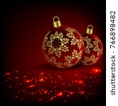 christmas red  fiery design... | Shutterstock .eps vector #766898482