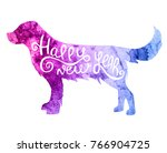 hand drawn watercolor... | Shutterstock . vector #766904725