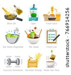 pay attention to health by... | Shutterstock .eps vector #766914256