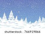 winter  landscape vector  snow  ...