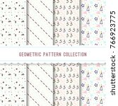 geometric pattern collection   Shutterstock .eps vector #766923775