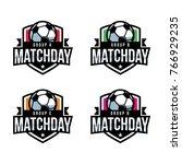 match day soccer logo  american ... | Shutterstock .eps vector #766929235