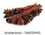 clove cannel star anise anise... | Shutterstock . vector #766929442