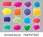 set of colorful speech bubbles | Shutterstock .eps vector #766937365