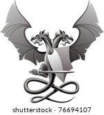 heraldic composition with... | Shutterstock .eps vector #76694107