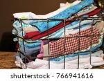 miscellaneous cloth napkins in... | Shutterstock . vector #766941616