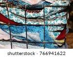 miscellaneous cloth napkins in... | Shutterstock . vector #766941622