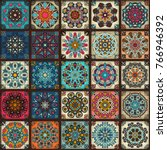colorful vintage seamless...   Shutterstock .eps vector #766946392