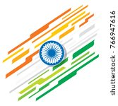 happy republic day of india ... | Shutterstock .eps vector #766947616