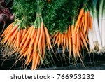 Bunches Of Fresh Baby Carrot...
