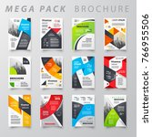 mega pack brochure design... | Shutterstock .eps vector #766955506