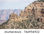 rocky landscape in grand canyon ... | Shutterstock . vector #766956922