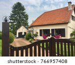 belgian country house. a... | Shutterstock . vector #766957408