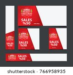 merry chritmas and happy new...   Shutterstock .eps vector #766958935