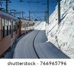 Train In Snowed Tunnel In...