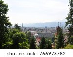 view from kreuzbergl on... | Shutterstock . vector #766973782