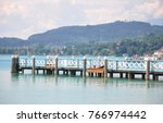 lake woerthersee in carinthia ... | Shutterstock . vector #766974442