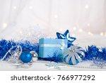 blue christmas decoration | Shutterstock . vector #766977292