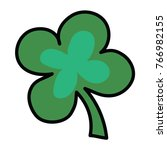 logo of four leafed clover. a... | Shutterstock .eps vector #766982155