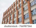 orange and white facaded... | Shutterstock . vector #766987366