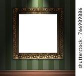 mock up 3d vintage frame... | Shutterstock . vector #766989886