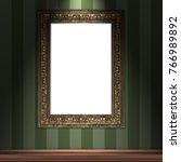 mock up 3d vintage frame... | Shutterstock . vector #766989892
