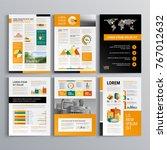 business brochure template...   Shutterstock .eps vector #767012632