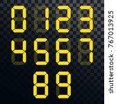 calculator digital numbers....   Shutterstock .eps vector #767013925