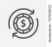 money abundance icon line...