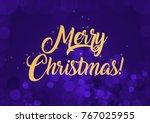 merry christmas wallpaper | Shutterstock . vector #767025955