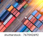 container container ship in... | Shutterstock . vector #767042692